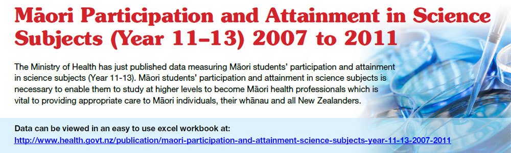 http://www.health.govt.nz/publication/maori-participation-and-attainment-science-subjects-aged-15-17-years-2008-2012
